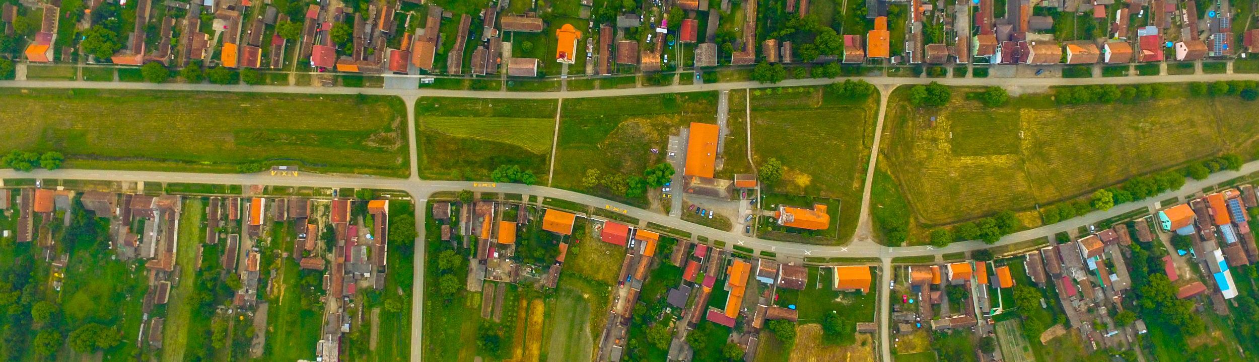 Centar naselja Kaniža iz zraka
